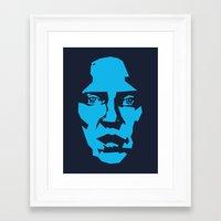 christopher walken Framed Art Prints featuring Walken by Aaron Synaptyx Fimister