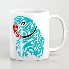 Blue ringneck parrot tattoo Coffee Mug