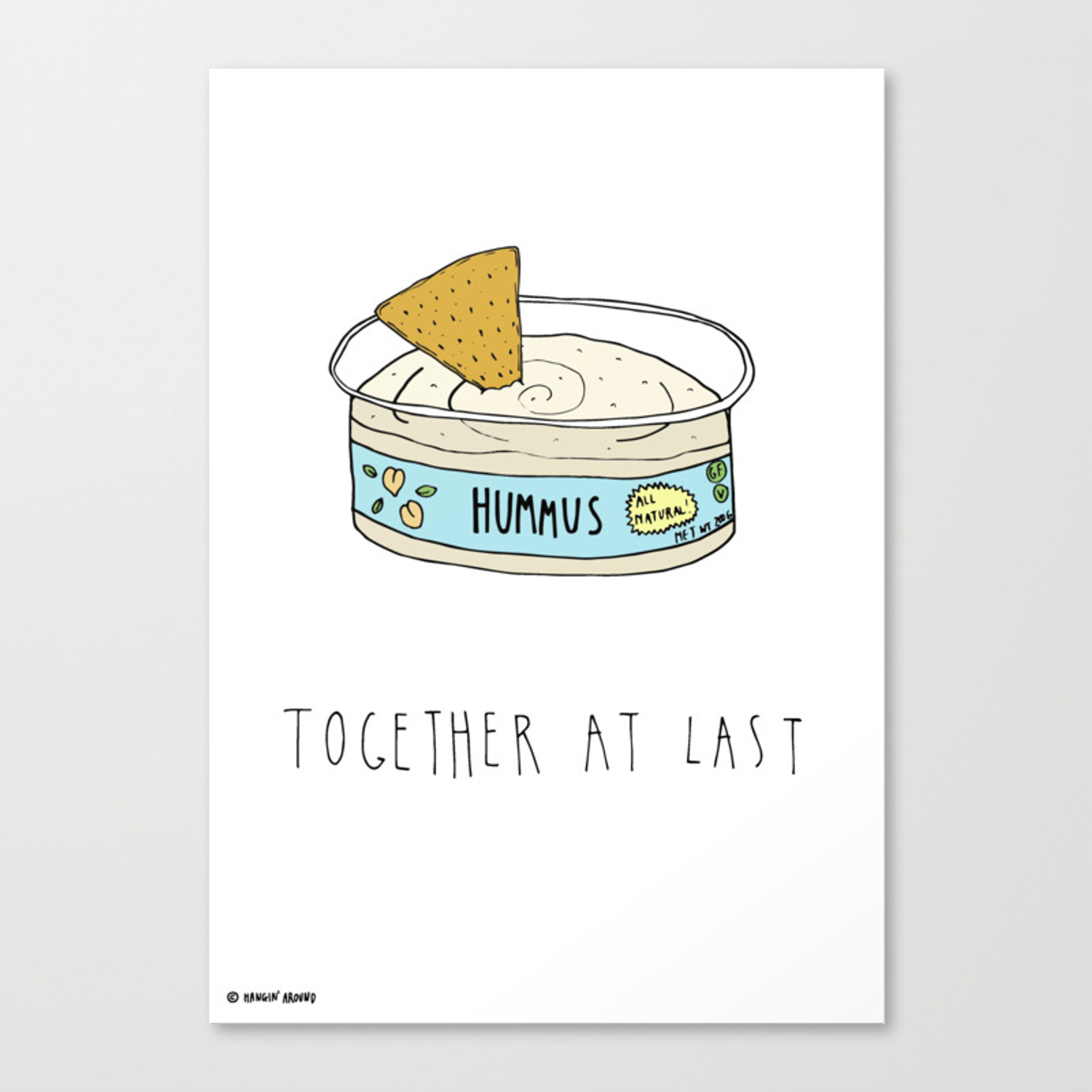 Hummus and Chips Canvas Print