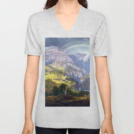 Johan Christian Claussen Dahl View from Stalheim Unisex V-Neck