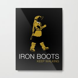 Iron Boots Metal Print