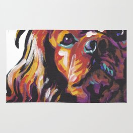 Ruby Cavalier King Charles Spaniel Dog Portrait Pop Art painting by Lea Rug