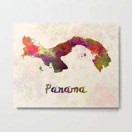 Panama in watercolor Metal Print
