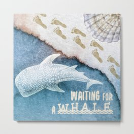 Waiting for a Whale Metal Print
