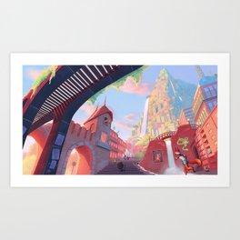 Colored City Art Print