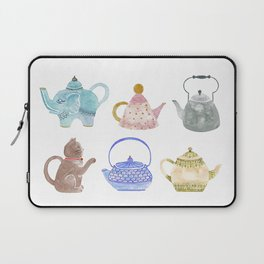 Waterclor Teapot Collection Laptop Sleeve