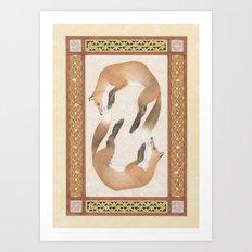 Fox Dance Art Print