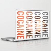 lindsay lohan Laptop & iPad Skins featuring LINDSAY LOHAN - COCAINE by Beauty Killer Art