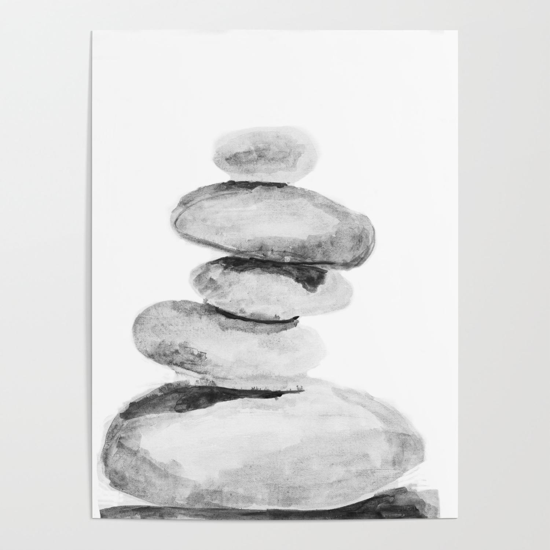 Rocks Balance Zen Stones Poster By Myartspacepr Society6
