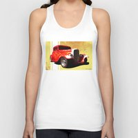 ford Tank Tops featuring Flames Ford by D. H. Carter
