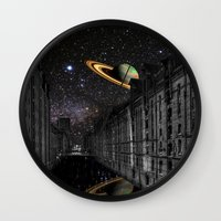 saturn Wall Clocks featuring Saturn by Cs025