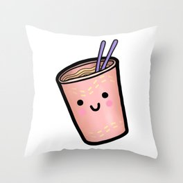 HAPPY LIL CUP NOODLE Throw Pillow