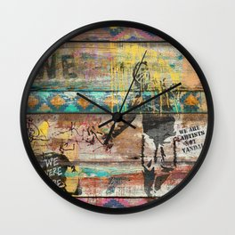 Art isn't a Crime (Molotov Cocktail) Wall Clock