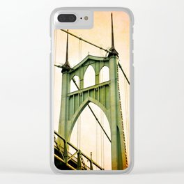 ST. JOHNS BRIDGE - PORTLAND Clear iPhone Case