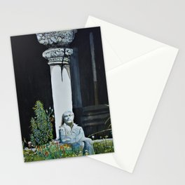 Meditating at the Cloisters Stationery Cards