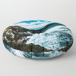 Ireland Cliff Waves Floor Pillow