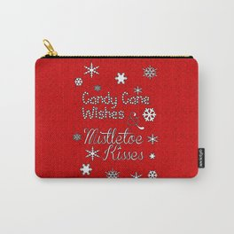 Candy Cane Wishes Carry-All Pouch