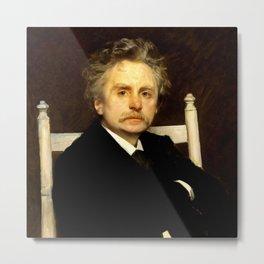 Edvard Grieg (1843 – 1907) portrait by Eilif Peterssen in 1891 Metal Print