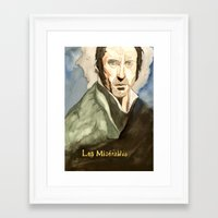 les mis Framed Art Prints featuring Les Mis by Paxelart