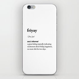 Friyay black and white contemporary minimalism typography design home wall decor bedroom iPhone Skin
