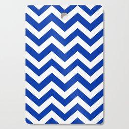 UA blue - blue color -  Zigzag Chevron Pattern Cutting Board