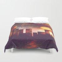 manhattan Duvet Covers featuring Good night Manhattan by HappyMelvin