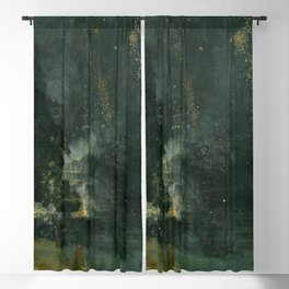James Abbott McNeill Whistler - Nocturne in Black and Gold Blackout Curtain