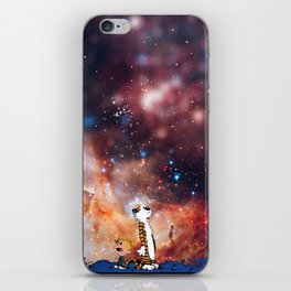 Calvin And Hobbes Nebula iPhone Skin