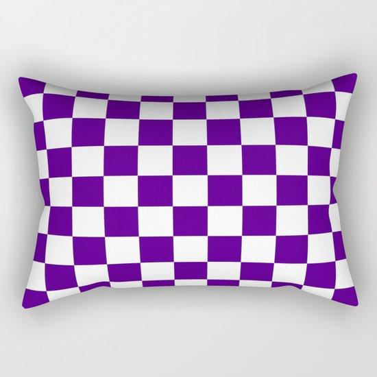 Checker (Indigo/White) Rectangular Pillow