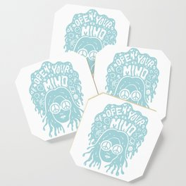 Open Your Mind in Mint Coaster