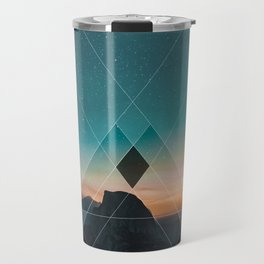 Mountain Landscape Geometric Travel Mug