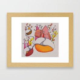Sleeping bear Framed Art Print