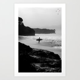 Secret Surf Spot Art Print