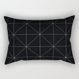 Geometric black and white Rectangular Pillow