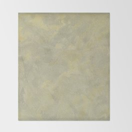 Champagne Skies Silver And Gold Metallic Plasters - Fancy Faux Finishes Throw Blanket