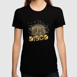 Disco Ball Disco Gold Gitter T-shirt