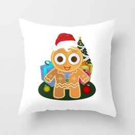 Christmas - Ginger Bread Man Throw Pillow