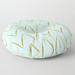 Mint Gold Foil 05 Floor Pillow