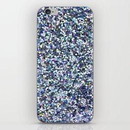Blue Glittering Sequins iPhone Skin