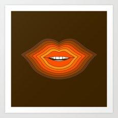 Pop Lips - Golden Art Print
