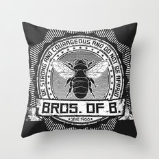 Bros. of B. Dark Throw Pillow