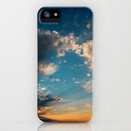 Sunset 031619 Caps, Texas iPhone Case
