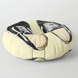 boy's sneakers stayhome Floor Pillow