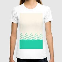 Mint Triangles T-shirt
