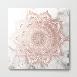 Dreamer Mandal Rose Gold Metal Print