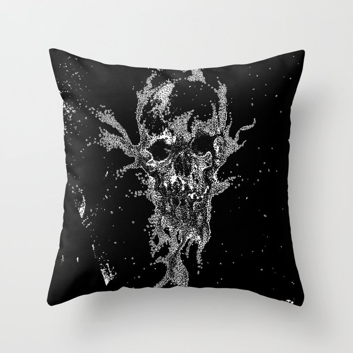 SAND SKULL Throw Pillow