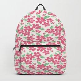 Japanese Sakuramon Flowers Seamless Patterns Symbols Backpack