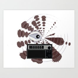 Radio Eye Art Print