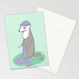 Knitting Ferret Stationery Cards