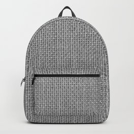 Natural Woven Silver Grey Burlap Sack Cloth Backpack